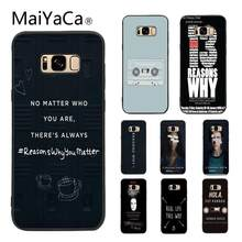 MaiYaCa 13 Thirteen Reasons Why 2019 Colored Drawing Soft Phone Case for Samsung Galaxy S5 S6 S7 S8 S9 S7 edge S6 edge(China)