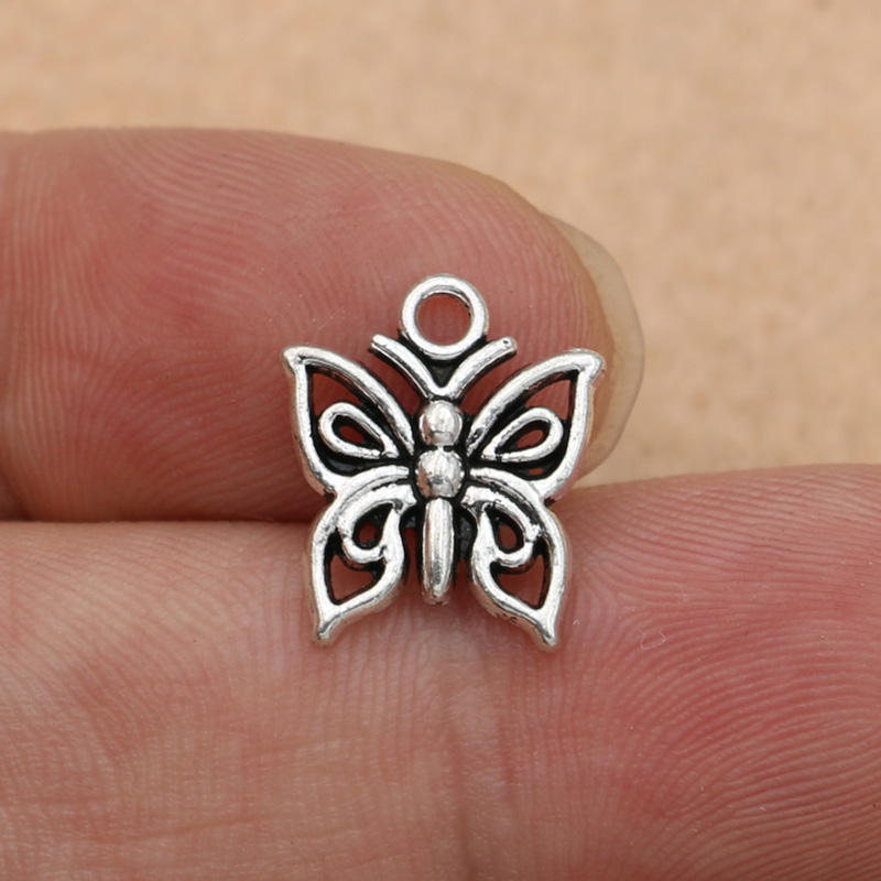 207 10pcs Silver Plated Dragonfly Charm Pendant for Bracelet Necklace Jewelry