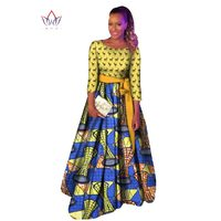 Plus Size African Dashiki Dresses Cotton Traditional African Clothing Party Dress O Neck Dashiki African Dresses