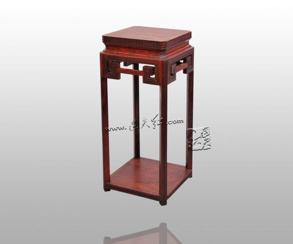 Burma Rosewood Incense Table Engraved with Meander Patterns Home Furniture Arts&Crafts Flower Stand 4ft House Decoration Luxury precise restoration of the palace museum collection chinese classical furniture burma rosewood incense stand carving handicraft