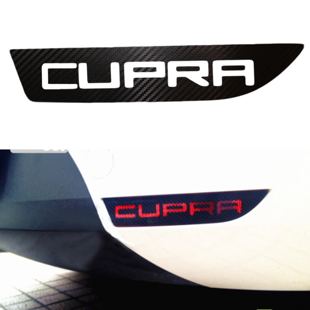 Car carbon sticker design - The Carbon Fiber Car Stickers Of Car Fog Lamps Accessories For Cupra Seat Leon Car Styling