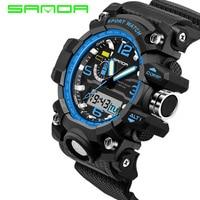 2017 G Male SANDA Clock Mens Watches Top Brand Luxury Waterproof Sports Digital Quartz Watches Men