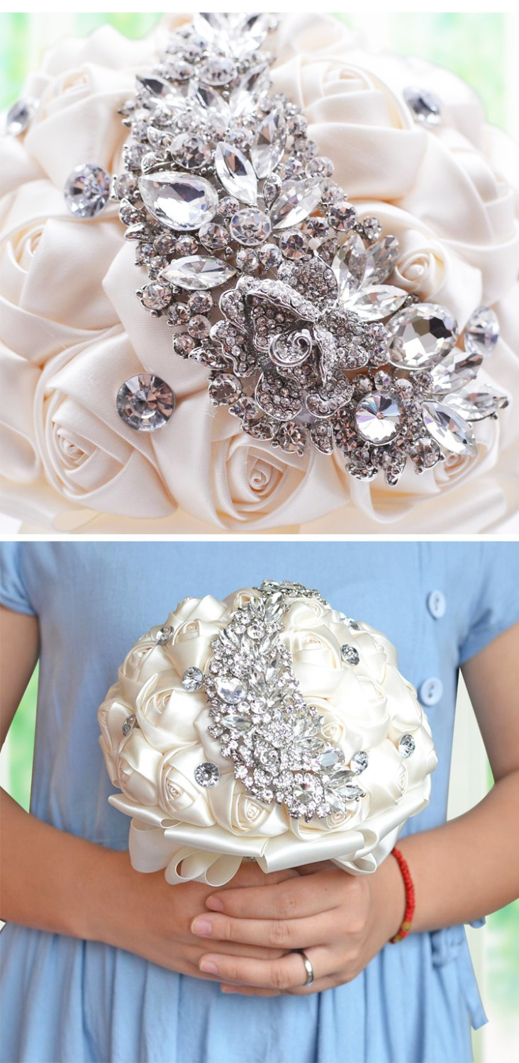 pearl flowers bk on with bridesmaid bouquet sapphire topqueen store in piece rose bridal product wedding s artificial stock online black bouquets