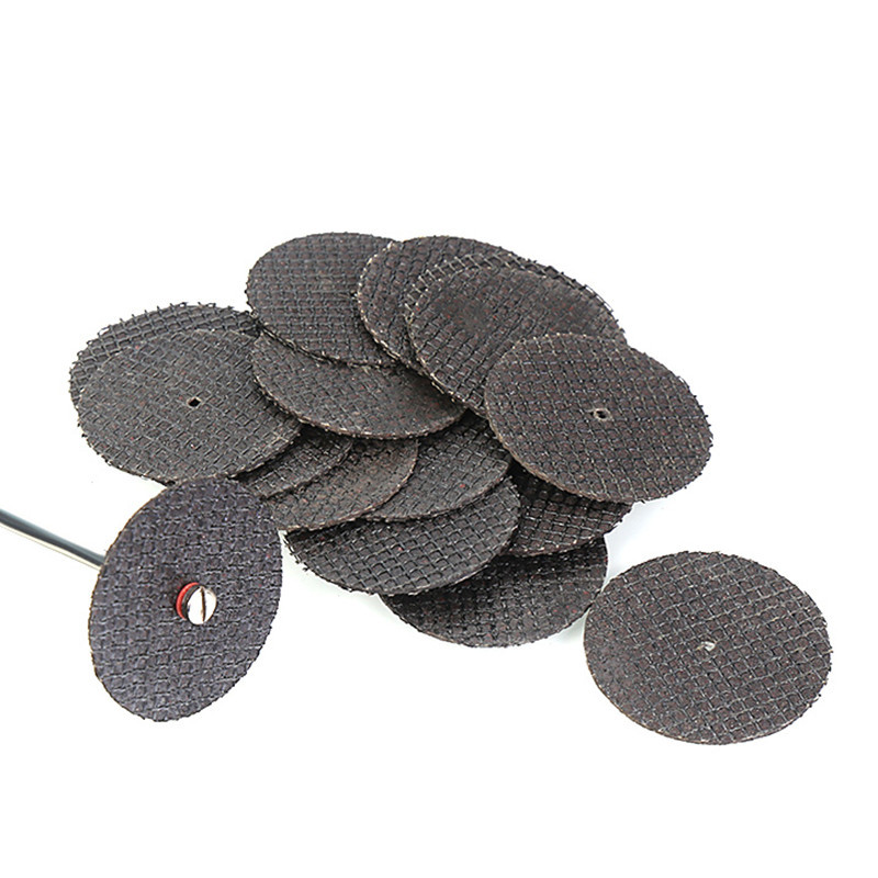 25pcs/set Metal Cutting Disc For Dremel Grinder Rotary Tool Circular Wheel Cutting Sanding Saw Blade With 1pcs Mandrel Accessory