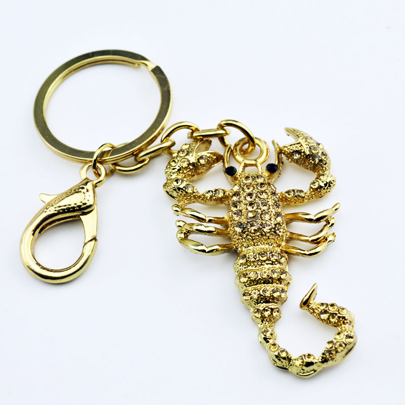 Fashion Scorpion Metal Pendant Crystal Charm Purse Car Keyring Luxury - Fashion Jewelry - Photo 3