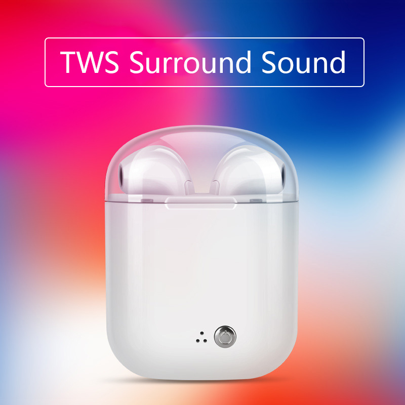 Mini TWS V4.2 Wireless Earphone Bluetooth Earphones Pair In-Ear Earbuds Headphones Stereo Headset with Mic for All Smart Phone mini headphones bluetooth headset bt 4 0 in ear wireless headphones stereo earbuds microphone car headsets mobiles earphone