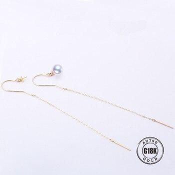 New Design Circle Earrings 18K Solid Gold Accessorie Earings Women Girls Romantic Jewelry Making Wedding Fine Gift