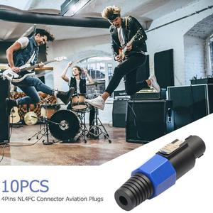 Image 5 - 10pcs 4 Pole NL4FC 4Pin Connector Plug Speaker Audio Ohm Female Socket Plug Support Dropshipping