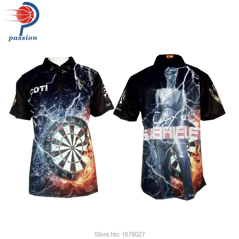 87d168191b7 Custom sublimated printing men dart shirts-in Trainning & Exercise ...