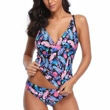 Biquini бандо с принтом сексуальные бикини женский купальник женский бразильский пуш-ап набор пляжной одежды купальный костюм 18Dec6