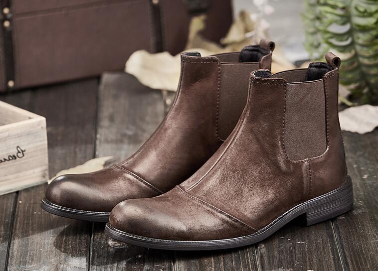 bd4e450f3229a Zapatos Negro marrón Tobillo Militares Retro Martin Hombre Para Terciopelo  Británica Chelsea Botas De Verano Alta vUpTYY