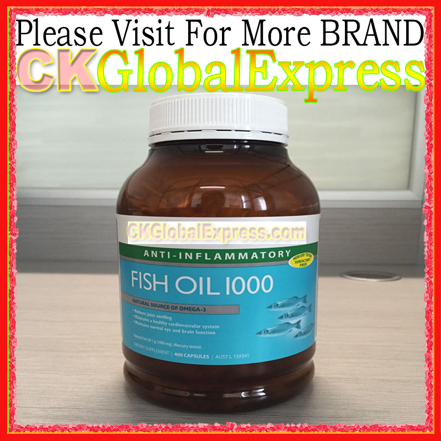 Fish Oil 1000 FOR Health Supplement 400 Pack Capsules