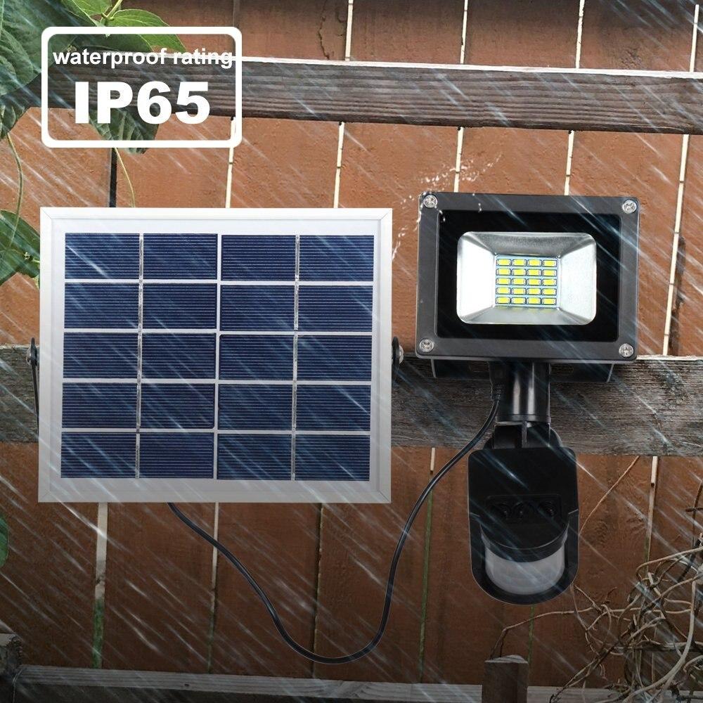 T SUNRISE Solar Flood Light 20 LED Outdoor Lighting Garden Security Light Waterproof IP65 PIR Motion Sensor Wall Lamp in Solar Lamps from Lights Lighting
