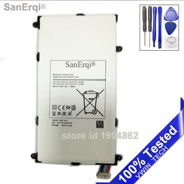 SanErqi T4800E T4800K Pour Samsung Galaxy Tab Tablet Pro 8.4 8.4 T325 T320 T321 T325 SM-T320 SM-T321 Batterie Outils Gratuits