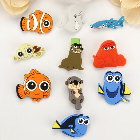 Creative cartoon PVC badges Childrens brooch beautiful safety pins Finding Nemo badges