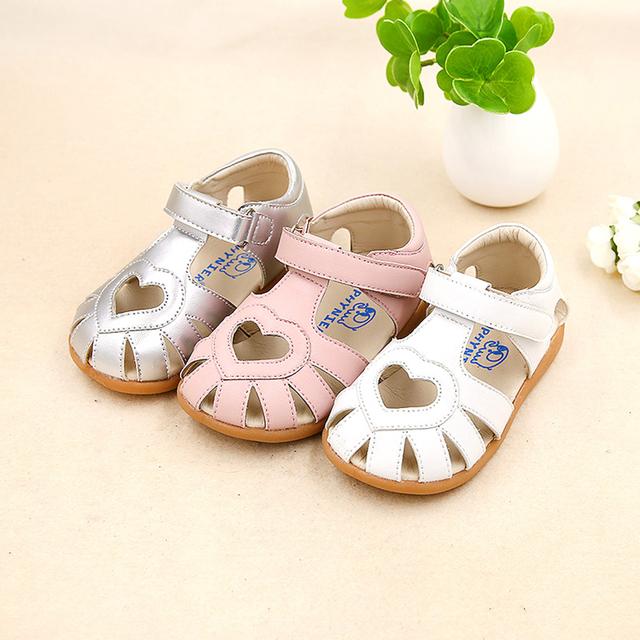 Mocassins Infantis Crianças da Menina da criança Sapatos Para Os Primeiros Passos Caminhantes Sapato Infantil Menina Sapatos de Bebê de Couro de Verão 503015