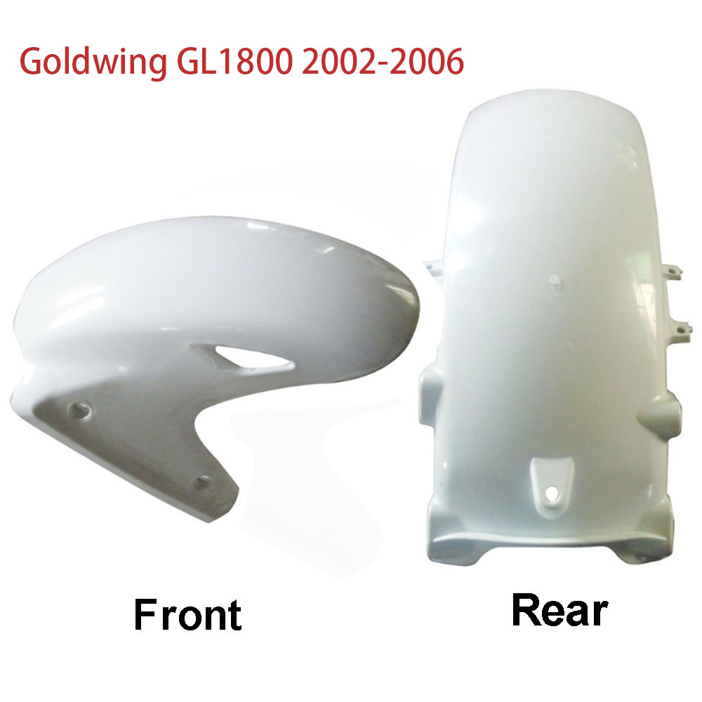 Rear Front Tire Wheel Fender For <font><b>Honda</b></font> <font><b>1800</b></font> <font><b>GL</b></font> Goldwing GL1800 2002 - 2006 2005 2004 2003 02-06 <font><b>GOLD</b></font> <font><b>WING</b></font> ABS Plastic Mudguard image
