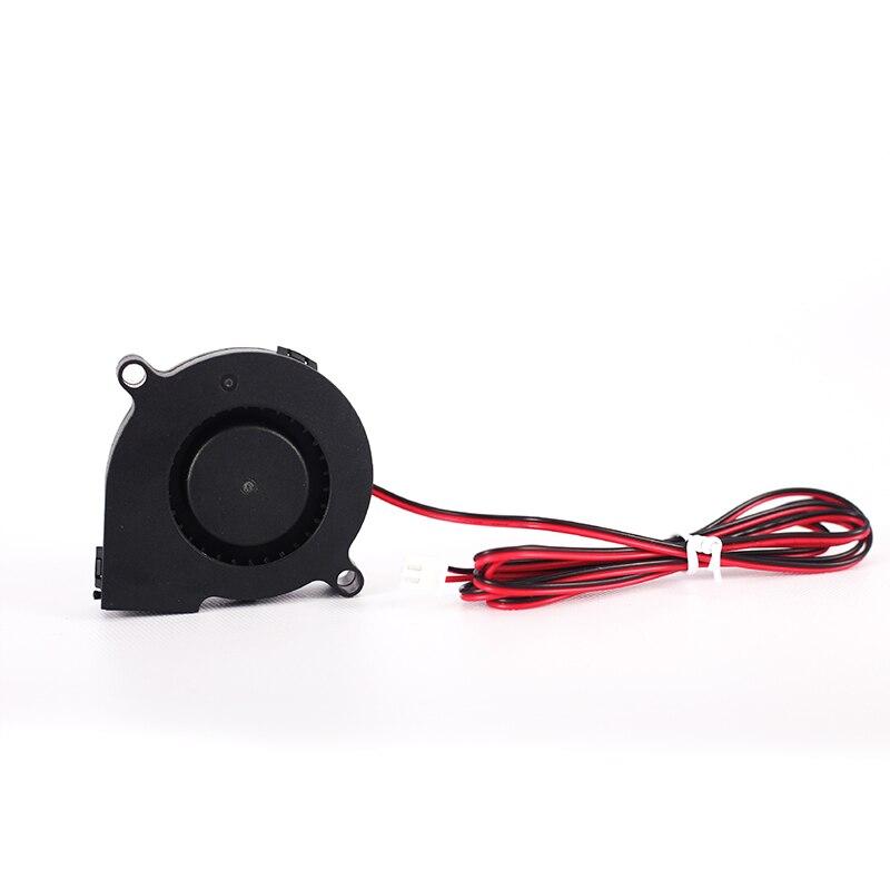 3D Printer Parts Turbine DC Blower Small Fan 5015 Industrial Cooling Fan DC 12V 50x50x15mm Reprap Mendel Prusa I3 Printer