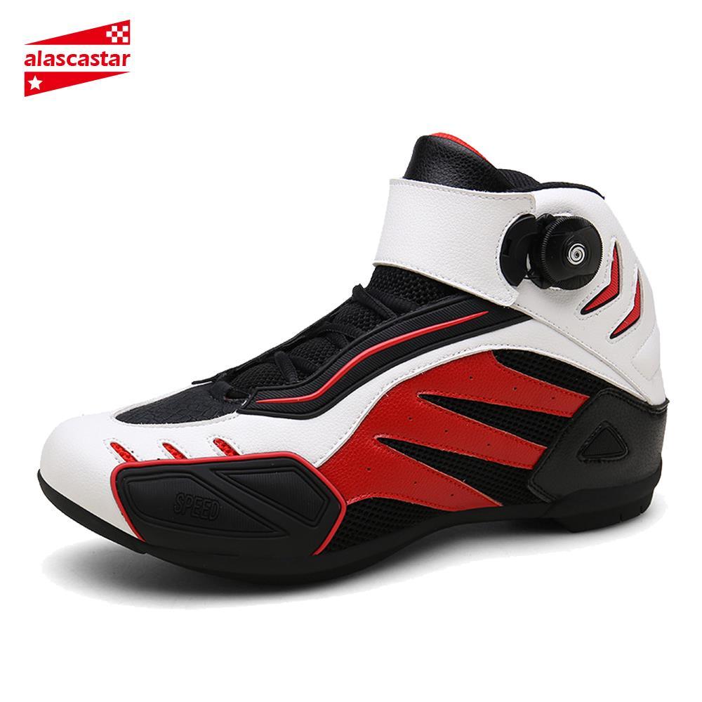 Nouveau Moto bottes hommes respirant Botas Moto bottes Hombre Moto chaussures Moto motard bottes d'équitation Touring cheville chaussures