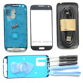 Original Full Housing Cover Frame Screen Glass Replacement for Samsung Galaxy S4 mini full housing i9190 9195 Free Tools