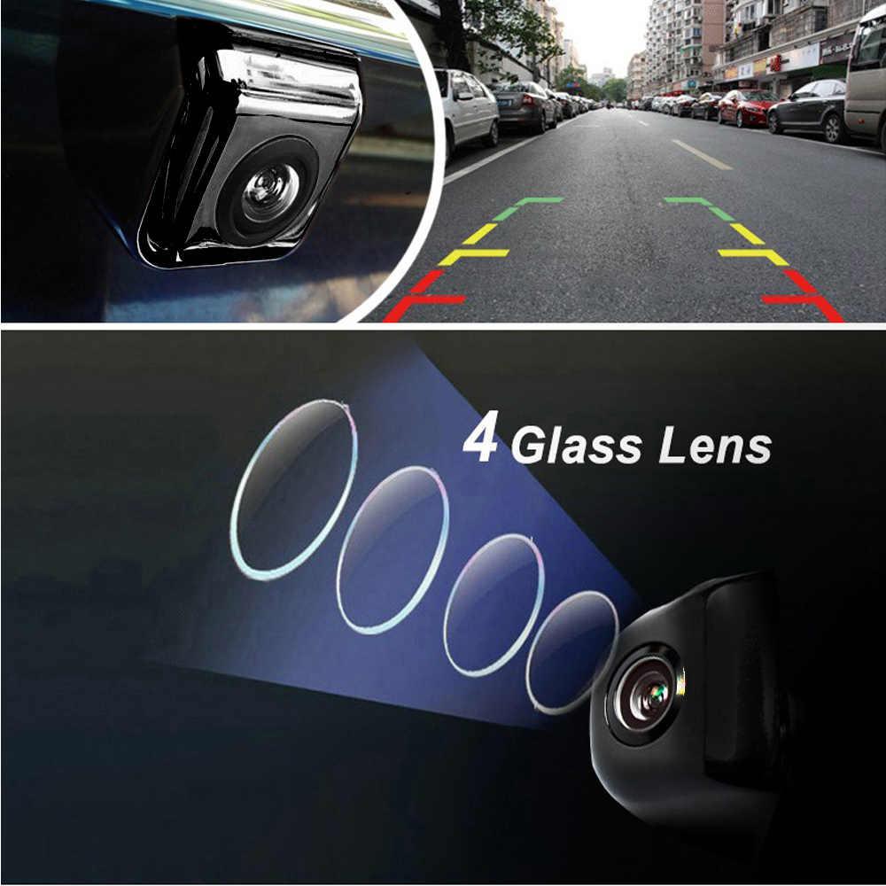 Podofo мини камера заднего вида 170 градусов угол обзора Универсальный IP67 водонепроницаемый HD для автомобиля резервная камера RV грузовик (черный)