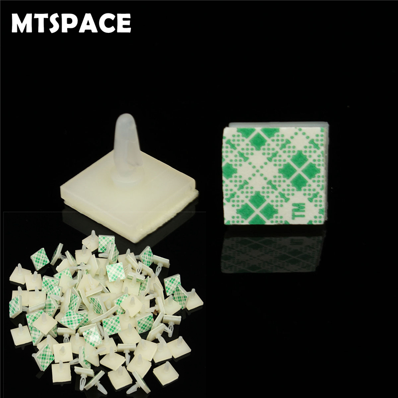 MTSPACE 100pcs/Set HC-5 Nylon Plastic Stick On PCB Spacer Standoff Locking Snap-In Posts Fixed Clips Adhesive 3mm Hole Support