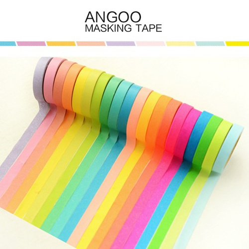 Buy 10 color set angoo masking tape for Tape works decorative tape