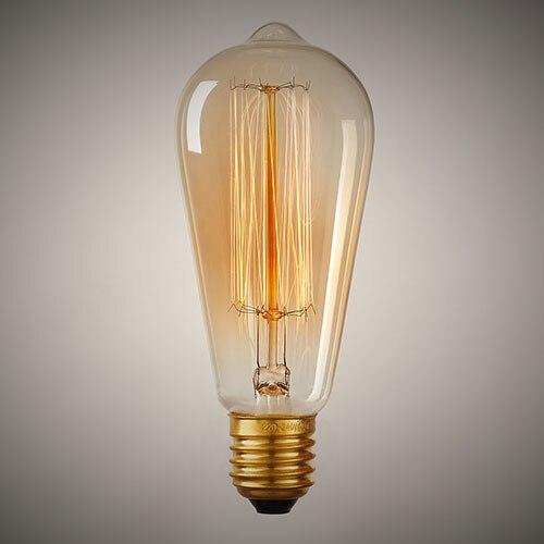 E27 40w Vintage Retro Filament Edison Tungsten Light Bulb: Aliexpress.com : Buy Retro ST64 Edison Bulb 110V/220V E26