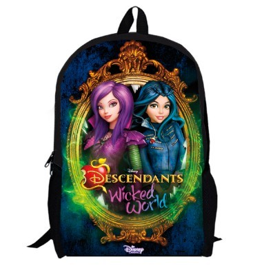 a83c5a1214a 15inch TV Show Backpack double layer custom made Cartoon Mal Carlos Evie  Jay women Bag children school bags anime