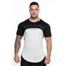2018 Summer New mens gyms T shirt Crossfit Fitness Bodybuilding Fashion Male Short cotton clothing Brand Tee Tops