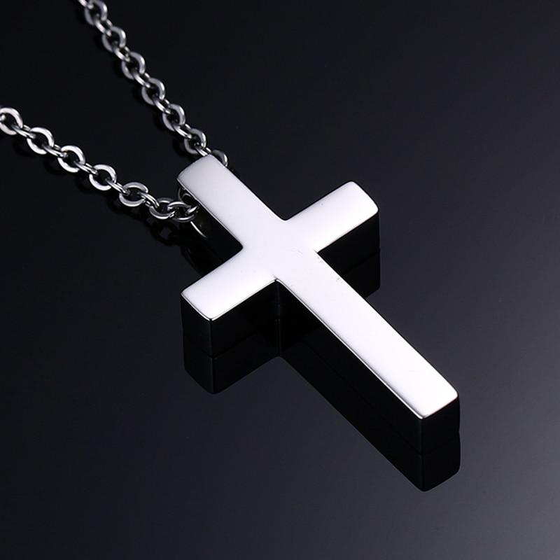 Vnox Classic Blank Cross Necklaces Prayer Christ Mes