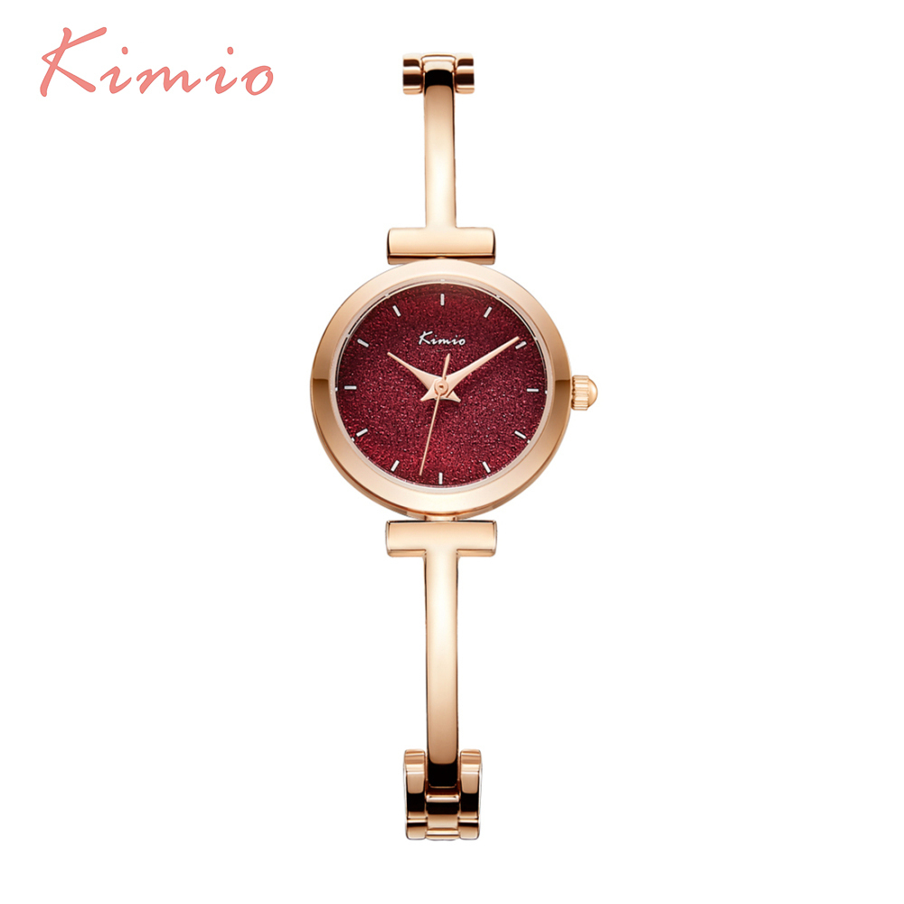KIMIO Shine Dial Rose Gold Women Watches Armbåndsur Ladies Watches - Dameure - Foto 6