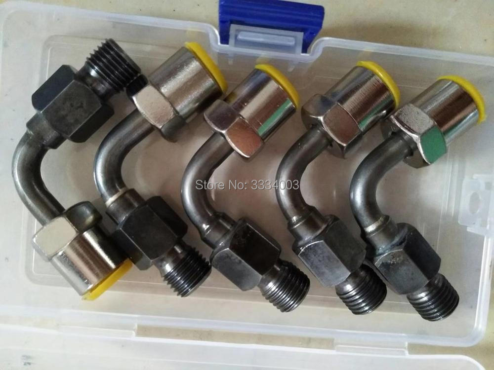 Haute qualité common rail banc d'essai tuyau connecteur partie, common rail injecteur pompe connect mixte à la common rail tube