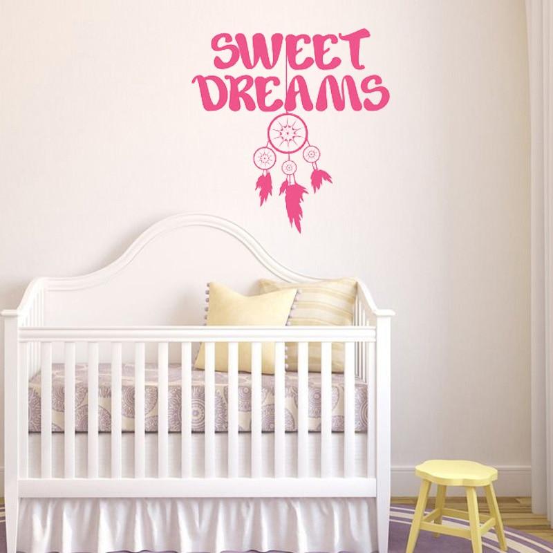 Aliexpress Buy Sweet Dreams Catcher Wall Stickers