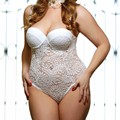 Recién Solid Escarpada Del Cordón Body Push-Up Taza de Encaje Babydoll Chemise Teddy Hollow Out Ver A Través de Peluche de la Ropa Interior ropa de Dormir