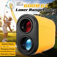 Golf Rangefinder Rechargeable 600M Waterproof Dustproof Digital Laser Range Finder 6X Magnification 3 Modes Eyepiece Focu Angle