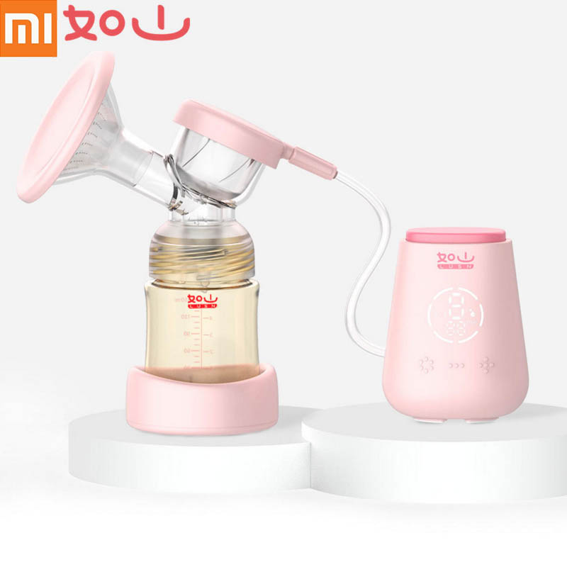 Xiaomi Mijia Rushan Electric Breast Pump With Milk Bottle Infant USB BPA free Powerful Smart Breast