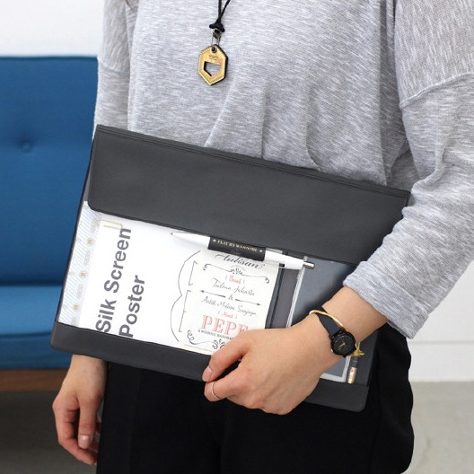 A4 PU File Folder Document Organizer Document Bag Quality Organizer Document Folder For Documents