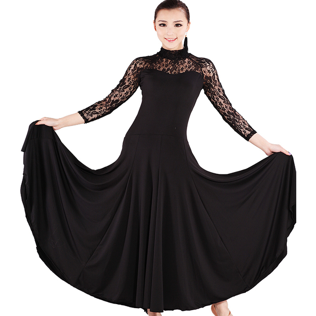 f214173c5e4d new arrival Modern dance clothes square dance long dress plus size  one-piece dress women's hb105