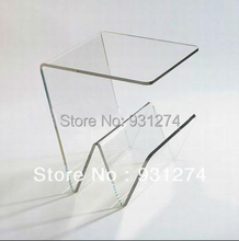 ONE LUX Modern acrylic coffee table with magazine racks ,Crystal tea table home furniture, Leisure patio desk for garden