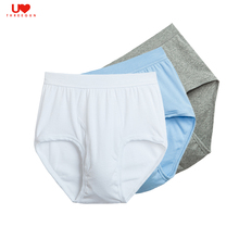 THREEGUN Cotton Men Briefs Underpants Soft Loose Briefs Men Underwear Sexy Plus Size Male Underwear Panties Homme Elder people