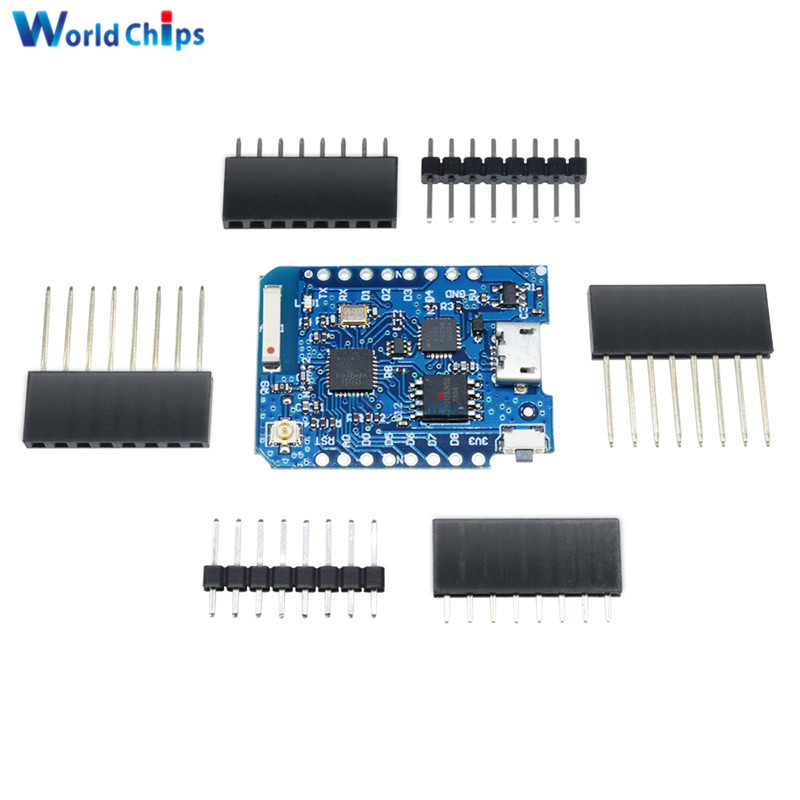 For WEMOS D1 Mini Pro 16M Bytes External Antenna Connector NodeMCU ESP8266 ESP-8266EX CP2104 WIFI Development Board Micro USB