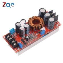 Профессиональный повышающий преобразователь постоянного тока 20А 1200 Вт DC-DC, источник питания 8-60 в 12 В, повышающий до 12-83 в 24 в 48 В с радиатором