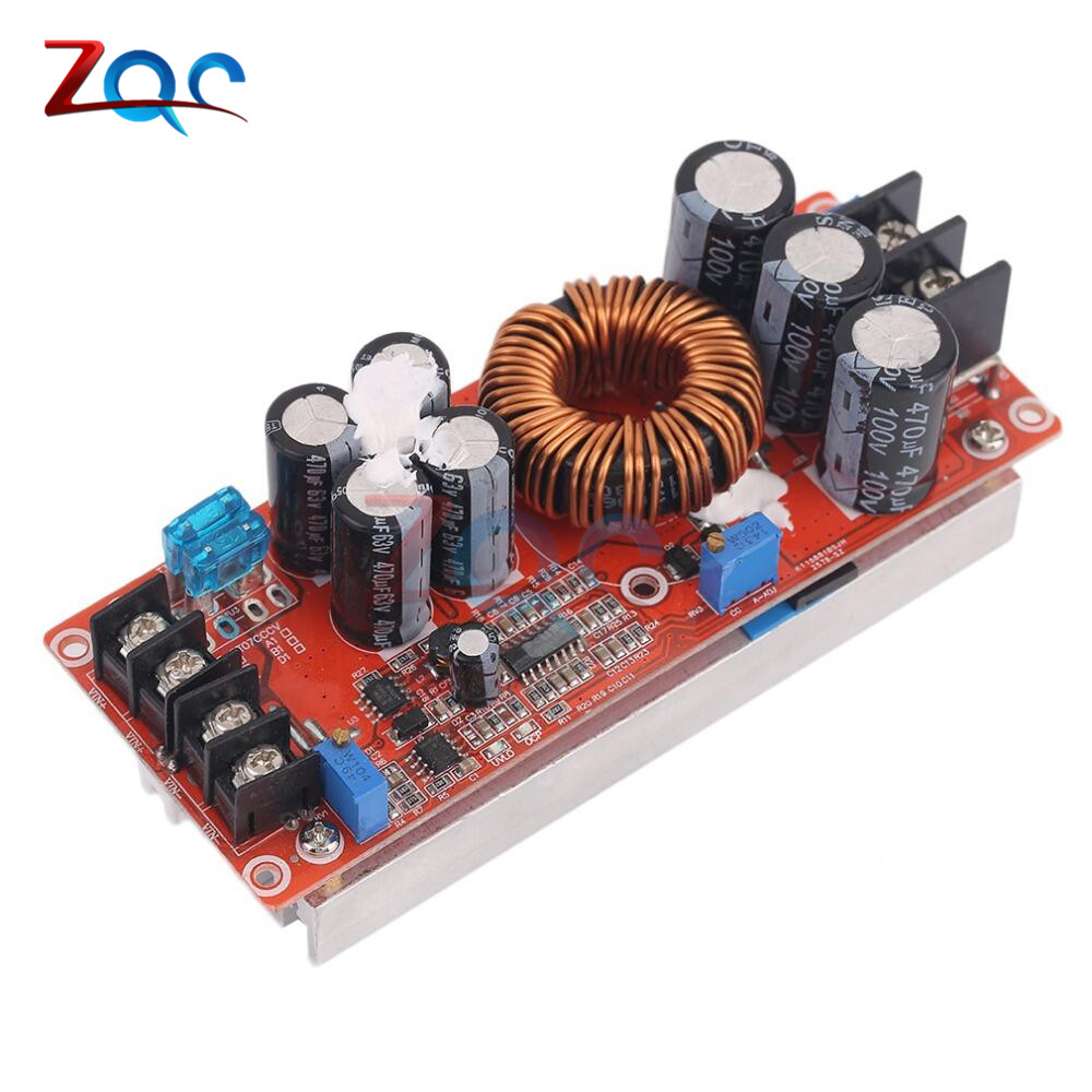 Professional DC 20A 1200W DC-DC Step Up Boost Converter Power Supply 8-60V 12V Step Up to 12-83V 24V 48V With Heat Sink