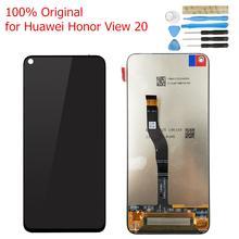 Oryginalna dla Huawei Honor View 20 wyświetlacz LCD ekran dotykowy digitizer montaż Honor V20 wyświetlacz LCD dotykowe 10 części do naprawy tanie tanio Pojemnościowy ekran Nowy 2160*1080 3 for Huawei Honor V20 Honor View 20 Original LCD IPS LCD capacitive touchscreen 16M colors