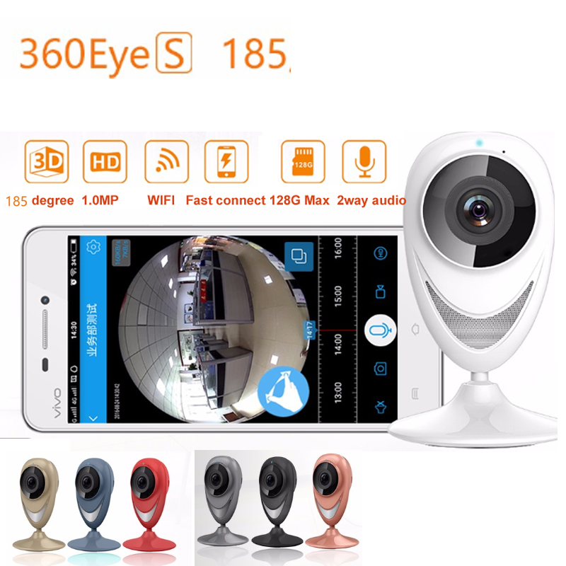 EC8-G6 185degree lens Panoramic Camera 360eye S WiFi camera 1.3MP HD720P baby monitor Wireless IP camera Night Vision P2P Camera