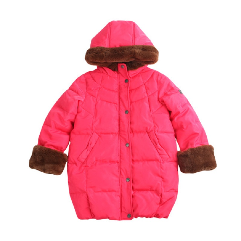 Fashion Warm Girl Winter Clothes Jacket Children Clothing Windbreaker Jackets Casual Hooded Girls Cotton Thick Warm Coat 2-10T new korean version winter children s clothing baby girls thick fur collar hooded coat fashion casual children cotton warm coat