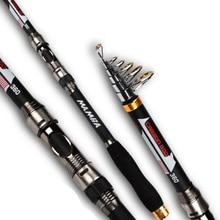 MANBA CARBON Fiber Fishing Rod Telescopic spinning rods 2 1m 2 4m 2 7m 3 0m
