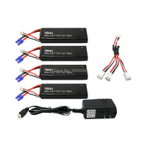 7 4V 3000mAh 10C Hubsan H501S Lipo Battery 4PCS UL Charger Hubsan H501C Rc Quadcopter Airplane