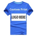 custom logo tshirt Customer Design Printing Logo 100% Cotton For Uniform Party Worker Hotel Customized Creat Silk screen print H